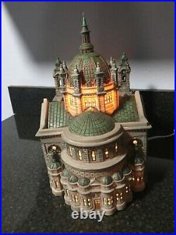 CATHEDRAL OF ST PAUL Patina Dome Edition Dept. 56 Christmas City in the city