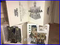 Christmas In The City Dept 56 Huge Lot + Cathedral Church Of St. Mark Rare #1217