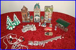 Christmas Special! Department 56 Lot Buildings Vehicles People Trees Fence FS
