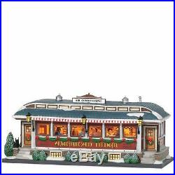 Classic Electric Christmas in the City American Diner Ceramic Retro Building