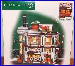 Dept 56 Christmas In The City Coca Cola Bottling Co. # 59258 Bnib