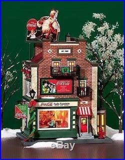 Dept 56 Christmas In The City Coca Cola Soda Fountain # 59221 Bnib Rare