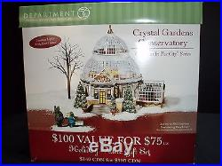 Dept 56 Christmas In The City Crystal Gardens Conservatory # 59219 Euc