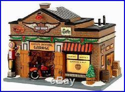 Dept 56 Christmas In The City Harley Davidson Garage # 4035565 Brand New