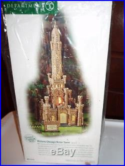 DEPT 56 CHRISTMAS IN THE CITY HISTORIC CHICAGO WATER TOWER NIB Read