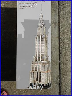 DEPT 56 CHRISTMAS IN THE CITY THE CHRYSLER BUILDING Excellent Store Display
