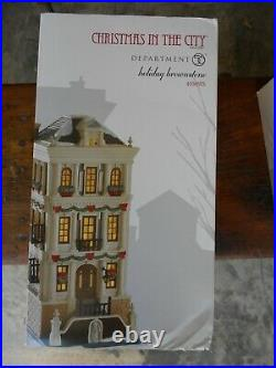 DEPT 56 CHRISTMAS IN THE CITY Village HOLIDAY BROWNSTONE NIB 4050913