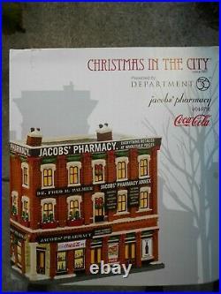 DEPT 56 CHRISTMAS IN THE CITY Village JACOB'S PHARMACY NIB Still Sealed