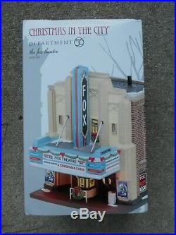 DEPT 56 CHRISTMAS IN THE CITY Village THE FOX THEATER Excellent Store Display