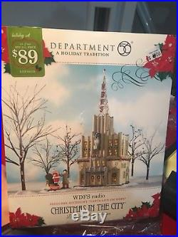 DEPT 56 CHRISTMAS IN THE CITY WDFS RADIO Brand New