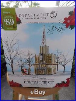 DEPT 56 CHRISTMAS IN THE CITY WDFS RADIO NIB Still Sealed
