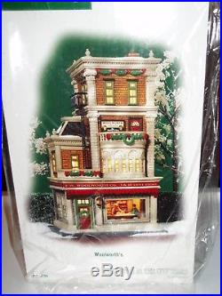 DEPT 56 CHRISTMAS IN THE CITY WOOLWORTH'S NIB Excellent Store Display