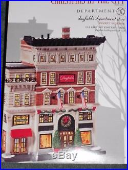 DEPT 56 Christmas In The City DAYFIELD'S DEPARTMENT STORE NIB Still Sealed