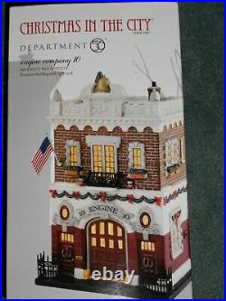 DEPT 56 Christmas In The City ENGINE COMPANY 10 NIB Sealed