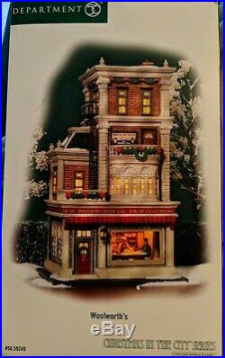 DEPT 56 Christmas In The City Woolworth's Dept Store 59249 NEW IN BOX