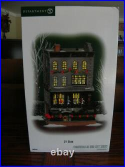 DEPT. 56 Christmas in the City! 21 CLUB! Brand New! Rare