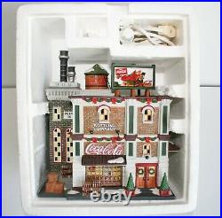 DEPT 56 Christmas in the City 59258 COCA COLA BOTTLING CO RARE READ