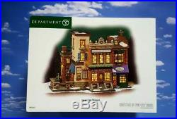 DEPT 56 Christmas in the City 5TH AVENUE SHOPPES! Fifth Art Wine Flowers Shops