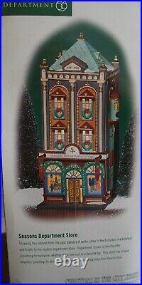 DEPT 56 Christmas in the City SEASONS DEPARTMENT STORE 56.59201NIB