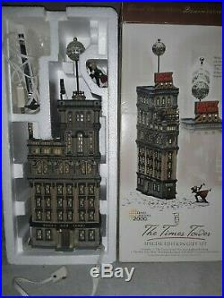 DEPT 56 Special Edition Gift Set THE TIMES TOWER in original box Times Square