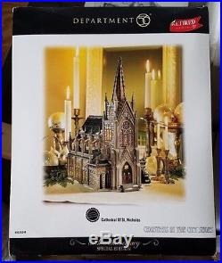 Department 56 CATHEDRAL OF ST. NICHOLAS Christmas In The City #59248 Retired