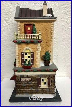 Department 56 Christmas In The City Caffe Tazio #59253 Display Anywhere Retired