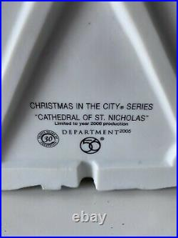 Department 56 Christmas In The City Cathedral of St. Nicholas 30th Anniversary