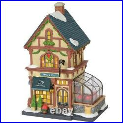Department 56 Christmas In The City STEMS & VINES GARDEN HOUSE RETIRED