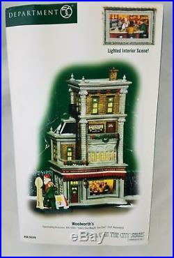 Department 56 Christmas In the City Woolworth Retired Rare