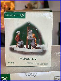 Department 56 Christmas in City Jamison Art Center & Caricature artist NEW w box