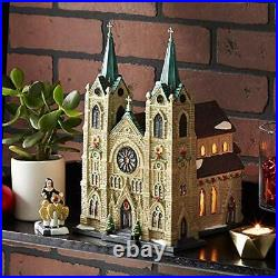 Department 56 Christmas in The City Village St. Thomas Cathedral Lit Building