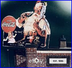 Department 56 Christmas in the City Coca-cola Soda Fountain #56.59221 New