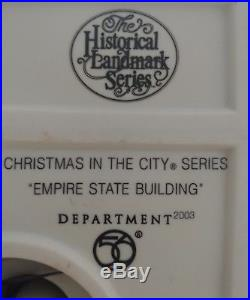 Department 56 Christmas in the City Historical Landmark Empire State Building