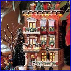 Department 56 Christmas in the City Parkside Holiday Brownstone Gift Set 58937
