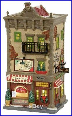 Department 56 Christmas in the City Sal's Pizza and Pasta Building 4056623 New