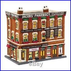 Department 56 Christmas in the City Village Jacobs Pharmacy Lit House (4044791)