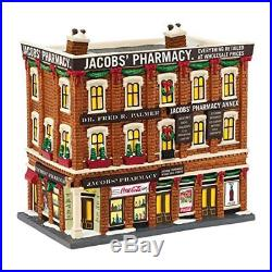 Department 56 Christmas in the City Village Jacobs Pharmacy Lit House, 8.07