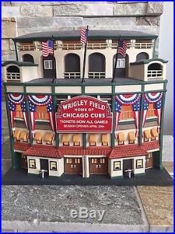 Department 56 Collectible 2001 Wrigley Field World Series Cubs Baseball 56.58933
