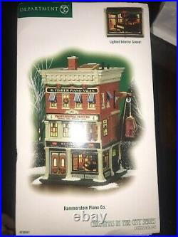 Department 56 Hammerstein's Piano Co. Christmas in The City #799941 NEW OPEN BOX