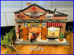 Department 56 Harley Davidson Garage Christmas in the City 4035565 RARE