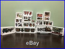 Department 56, Lot 11 Houses w Accessories, Orig Boxes, Christmas in the City