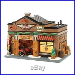 Department 56 (NEW) HTF Christmas in the City Harley-Davidson Garage #4035565