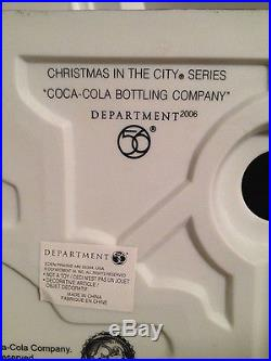 Department 56-New-Coca Cola Bottling Company-Christmas in the City-Village-Coke