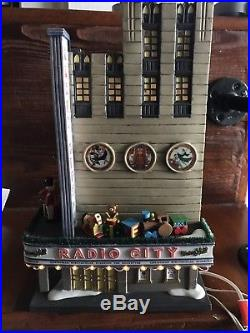 Department 56 RADIO CITY MUSIC HALL Christmas in the City WORKS GREAT! With BOX
