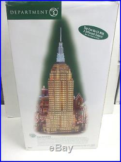 Department 56 Retired 2003 Christmas in the City Empire State Building NIB