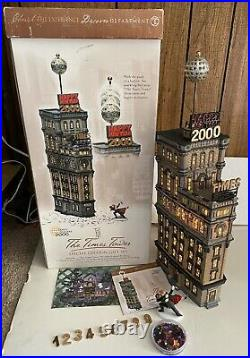 Department Dept 56 Christmas in City Lighted The Times Tower in Original Box