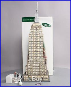 Dept 56 56.59207 Christmas in The City Illuminated Empire State Building LN/Box