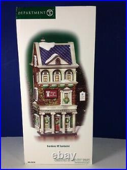 Dept 56 CIC Christmas in the City GARDENS OF SANTORINI 56.59239 Brand New