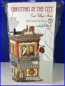 Dept 56 CIC Christmas in the City WAKEFIELD BOOKS 4025243 Brand New! RARE