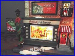 Dept 56 COCA-COLA SODA FOUNTAIN Christmas in the City Series #59221